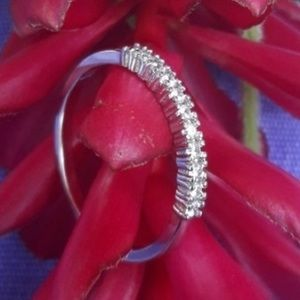 Jewelry - Eternity Ring Sterling White Sapphire ✔️925